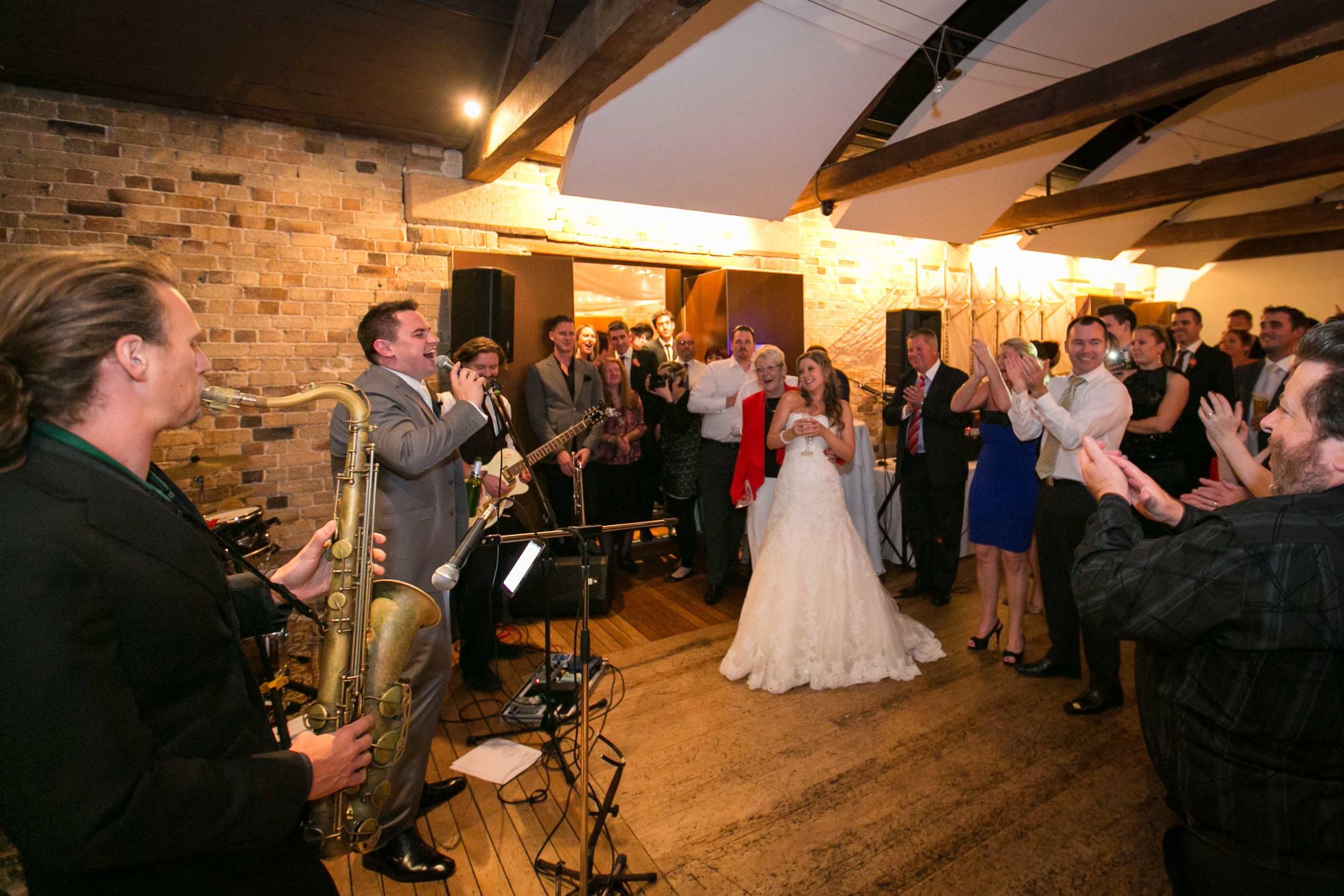 Kylie and Travis wedding reception Waterside Sydney