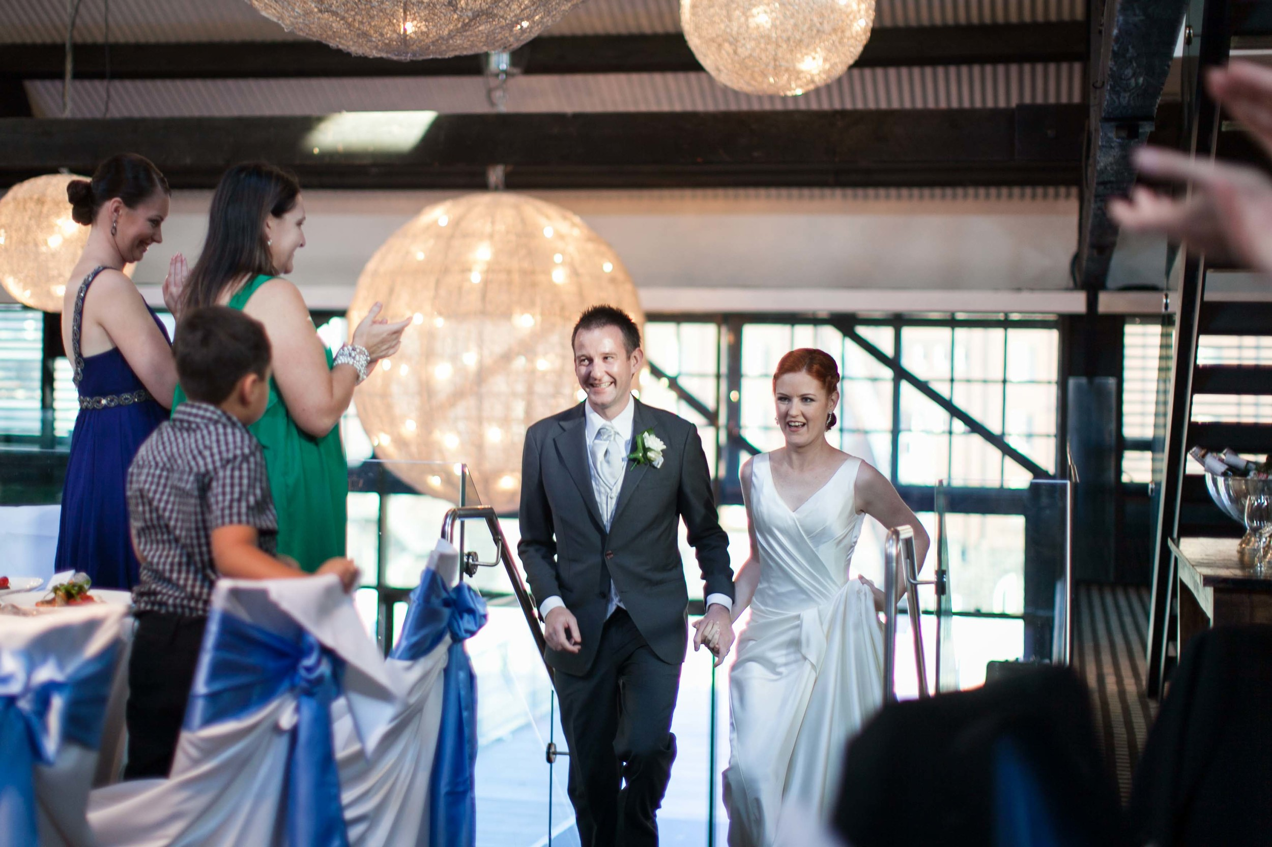 Meredith and Andy wedding reception Doltone House Loft Sydney