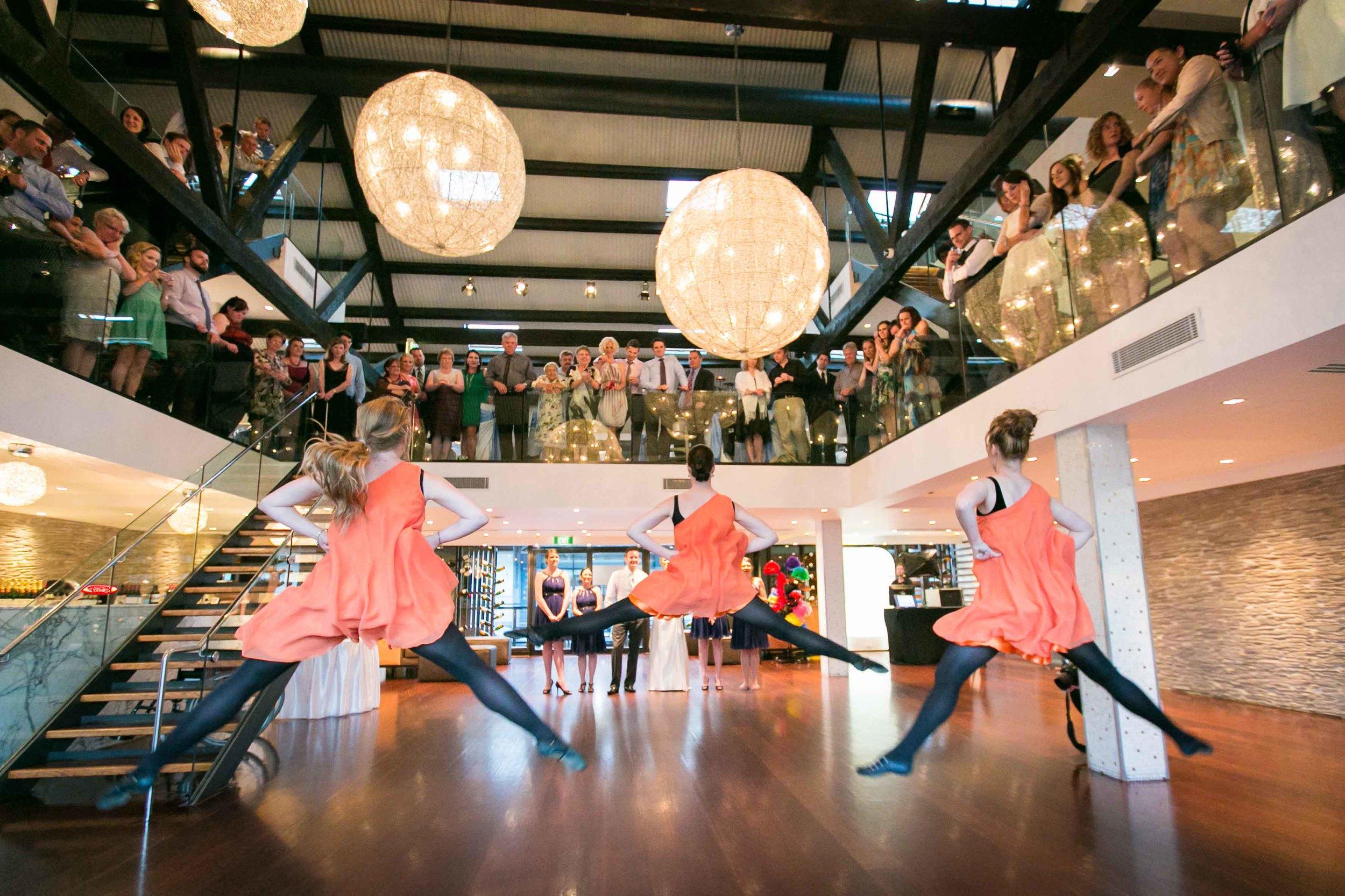 Meredith and Andy wedding reception Doltone House Loft Sydney Dancers