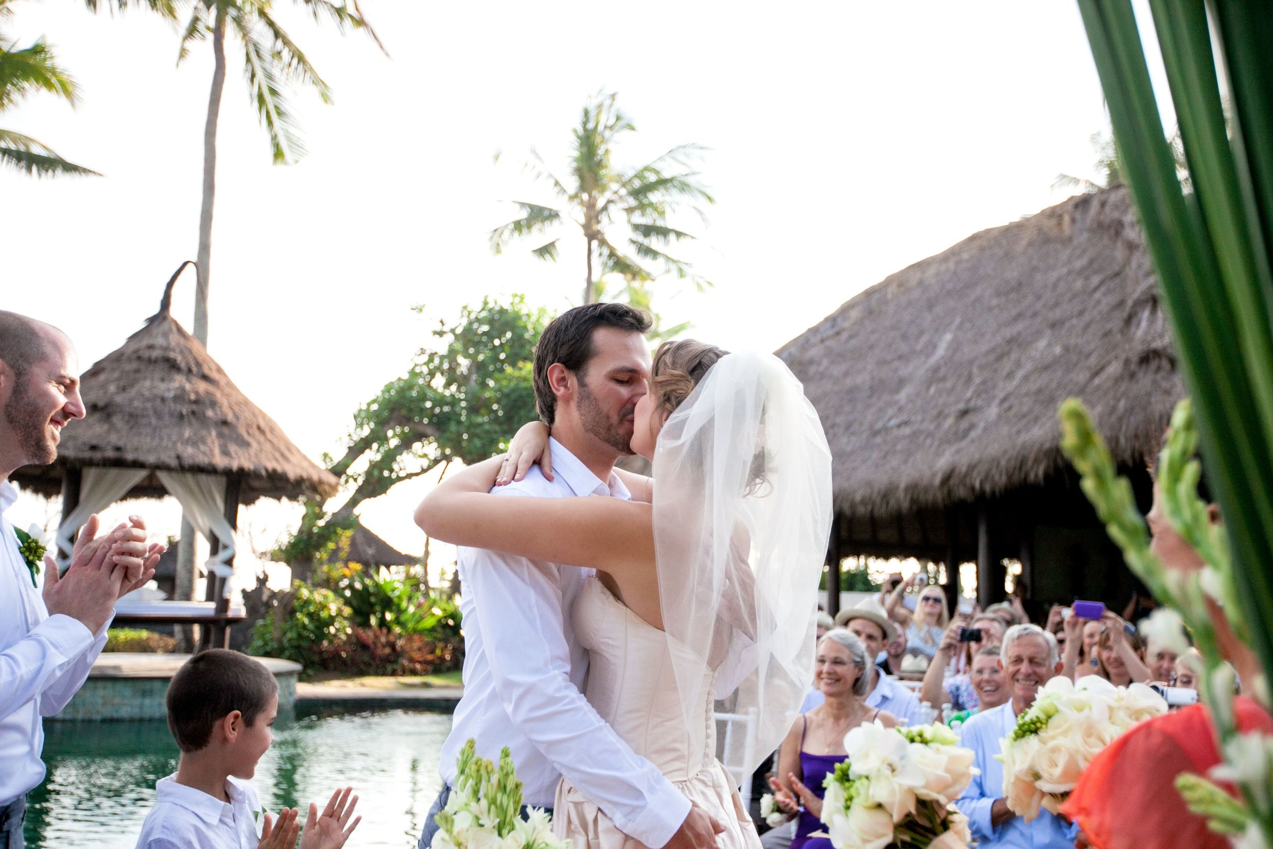 Chloe and Jay wedding ceremony Kiss Taman Ahimsa Bali