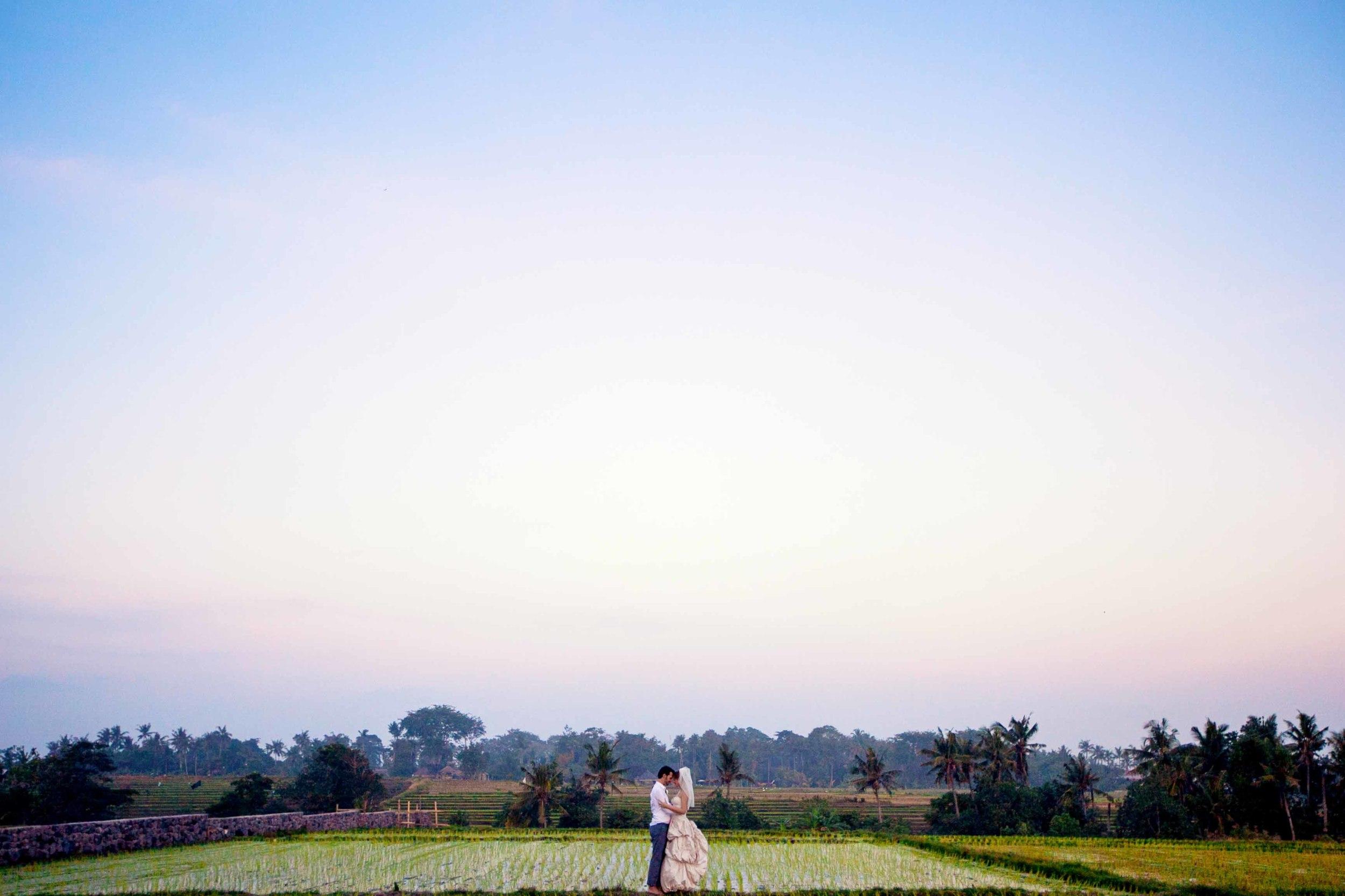 Chloe and Jay wedding Taman Ahimsa Bali Rice Field