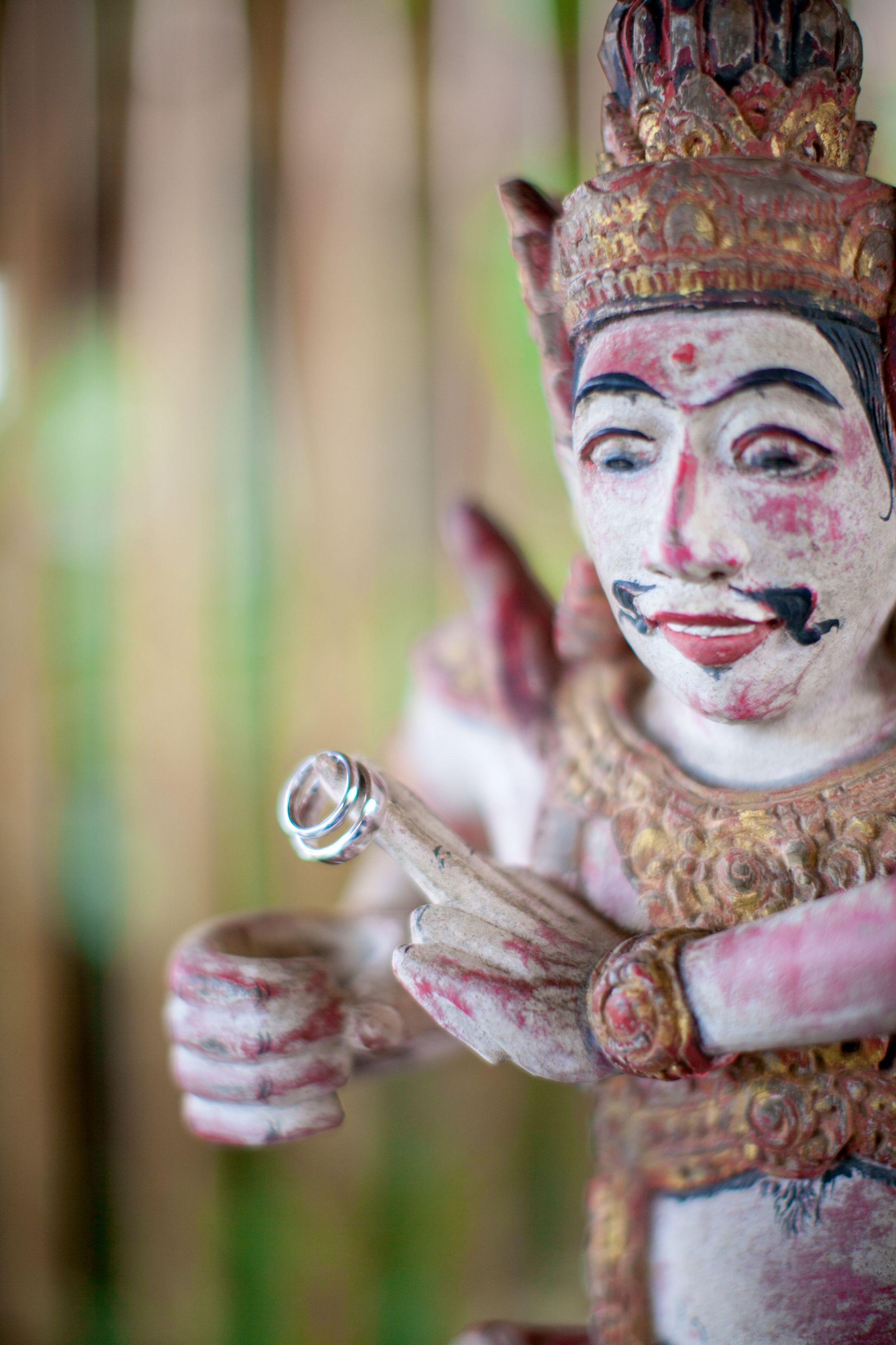 Chloe and Jay wedding Taman Ahimsa Bali Rings