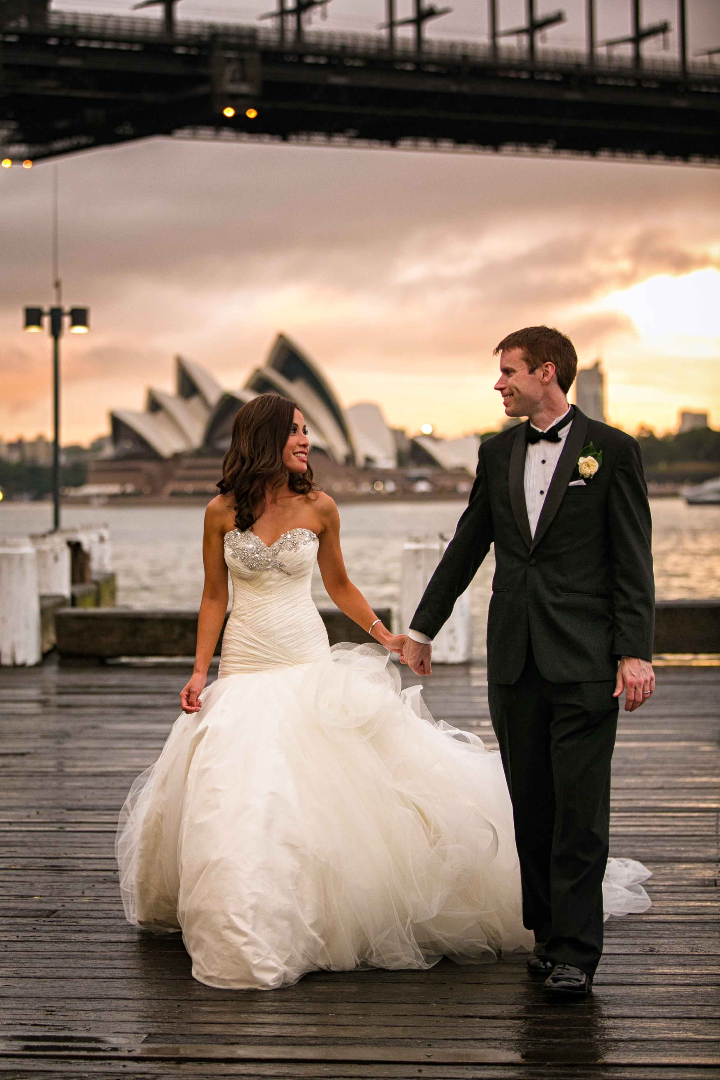 Eva and Diarmuid wedding Luna Park Sydney