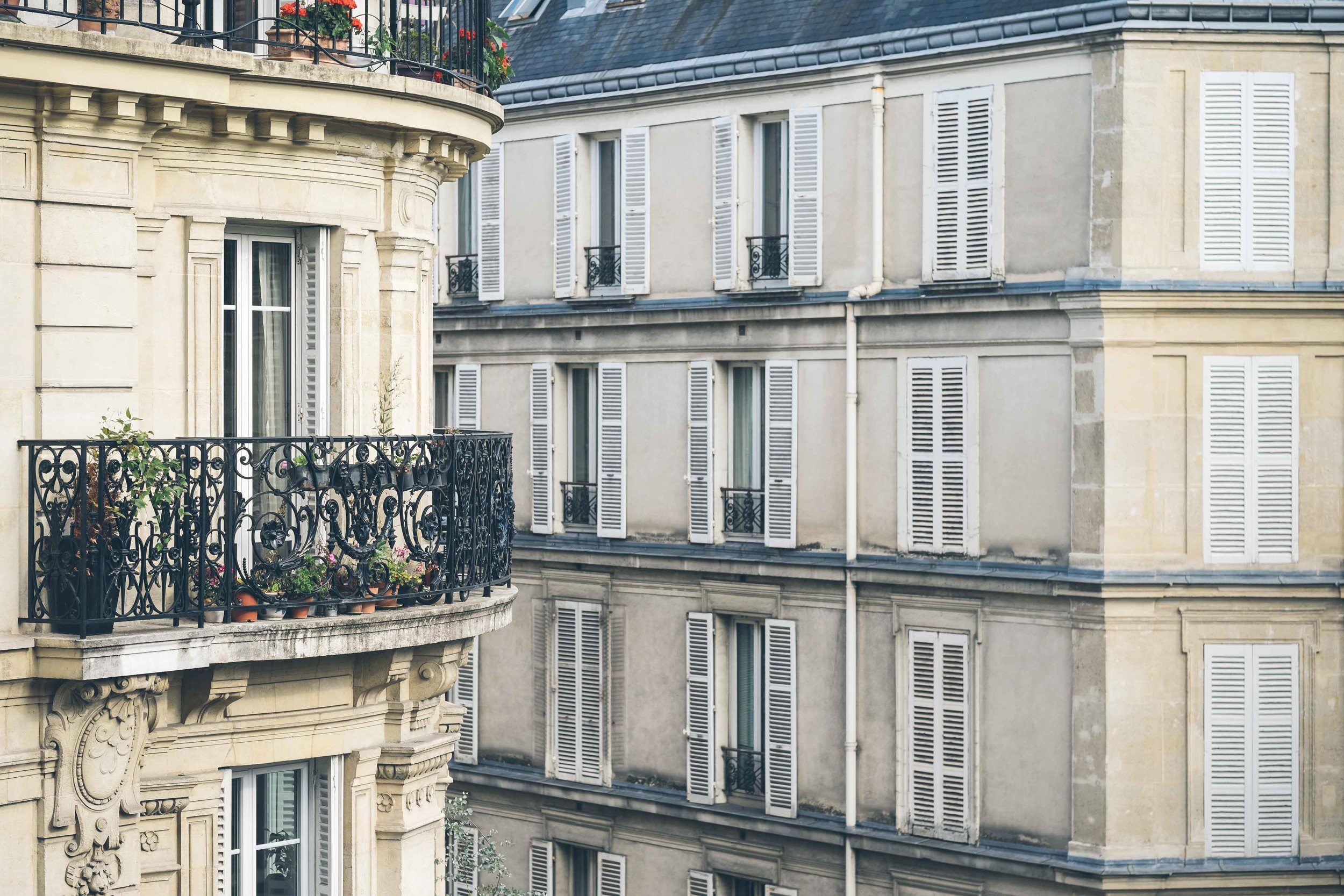The view from our Montmartre Airbnb apartment