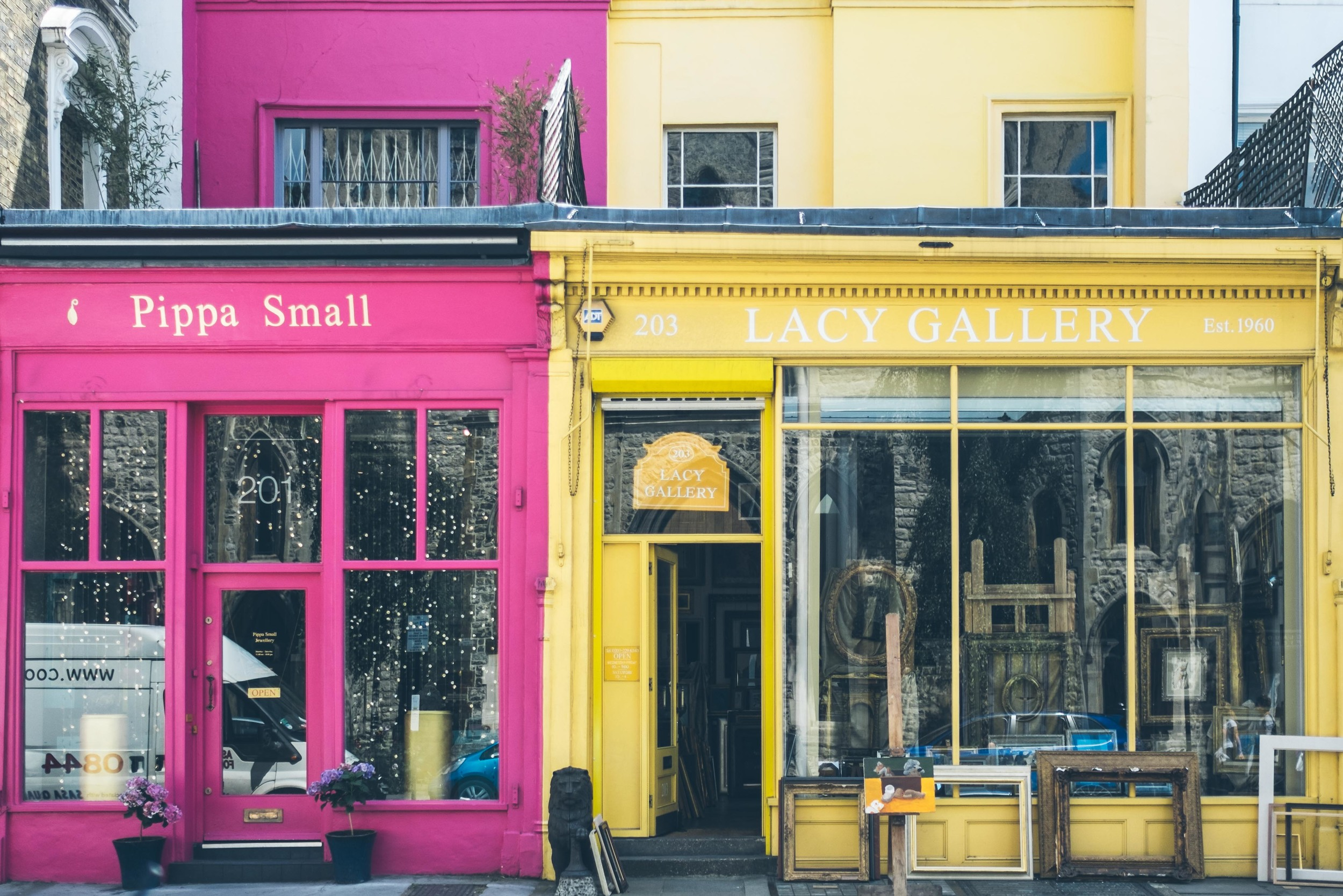 Westbourne Grove - full of vibrant colours