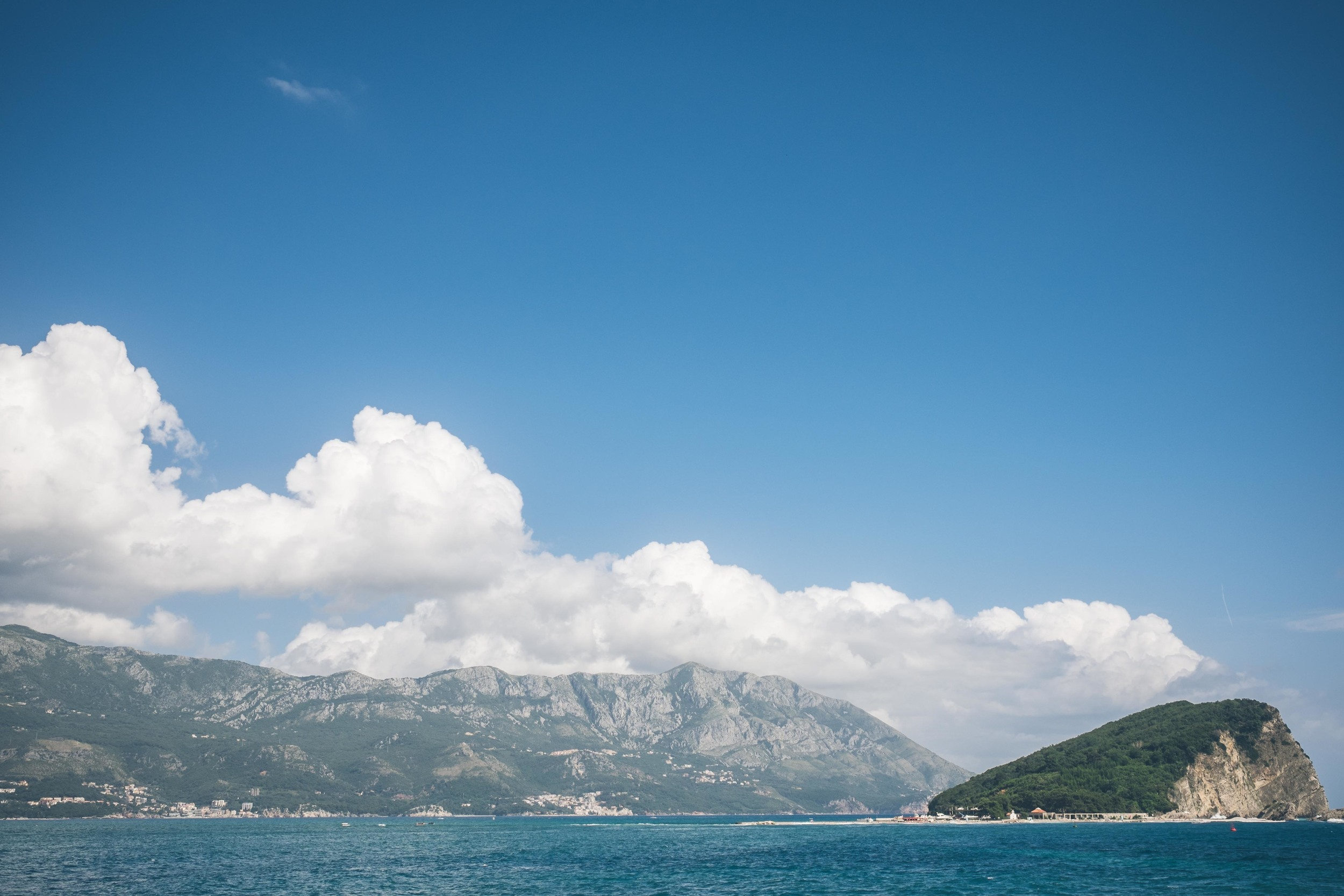The Adriatic coastline of Budva