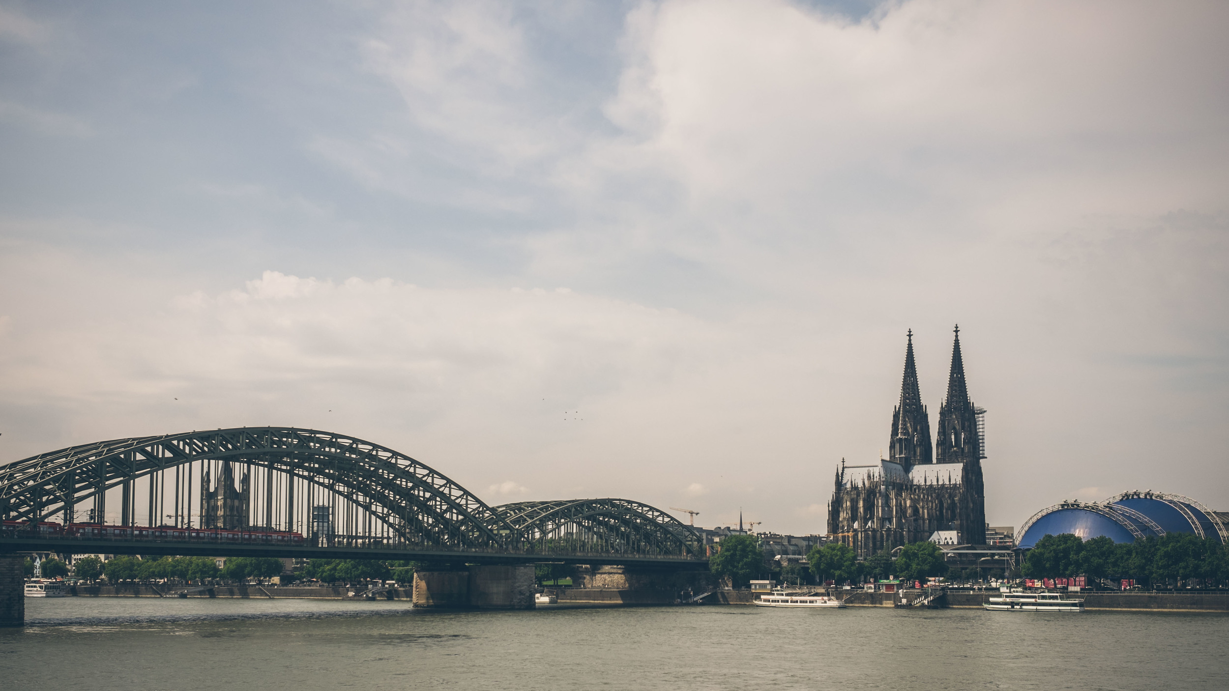 Cologne Cathedral: so big you need to get this far back to fit it all in
