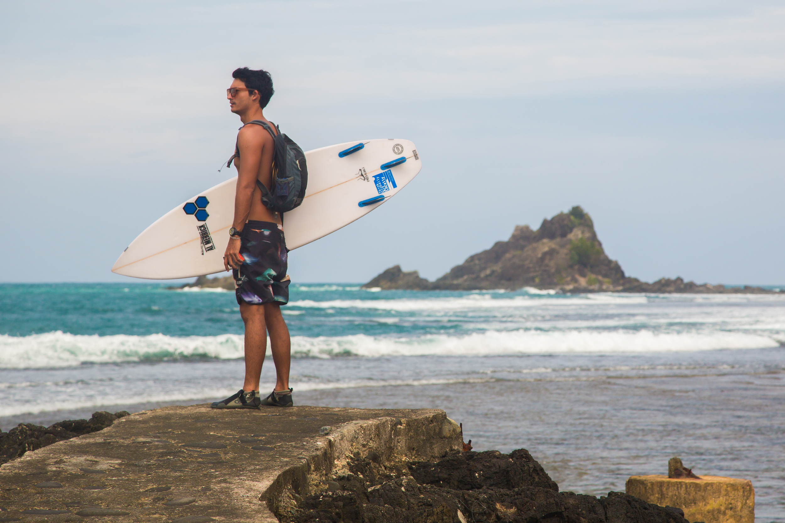 Stunning backdrop to our favourite surf sport on the trip, Cemento Reef or locally known as Cobra Reef.