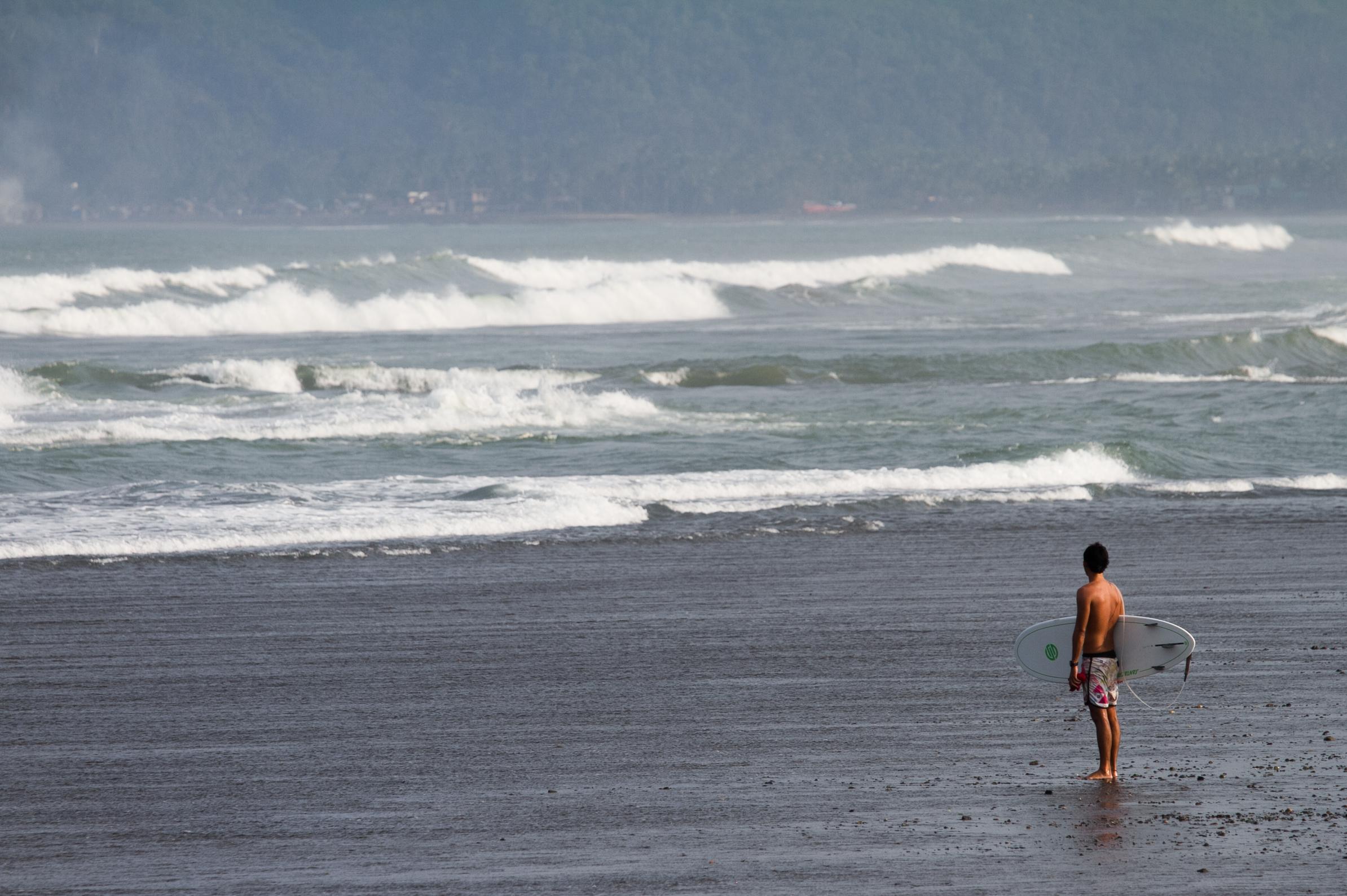 The lonely surfer. Secret spot.