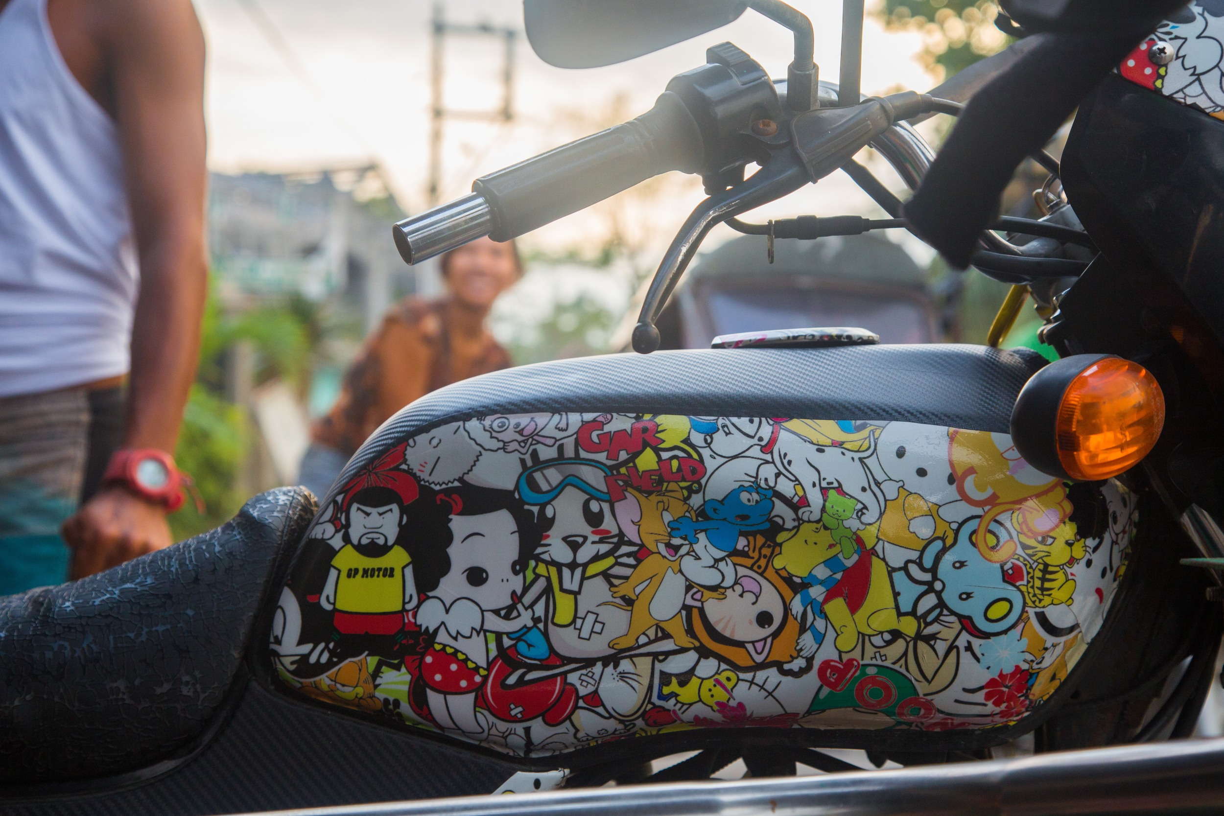 Our man Mike's rad tricycle paint job!