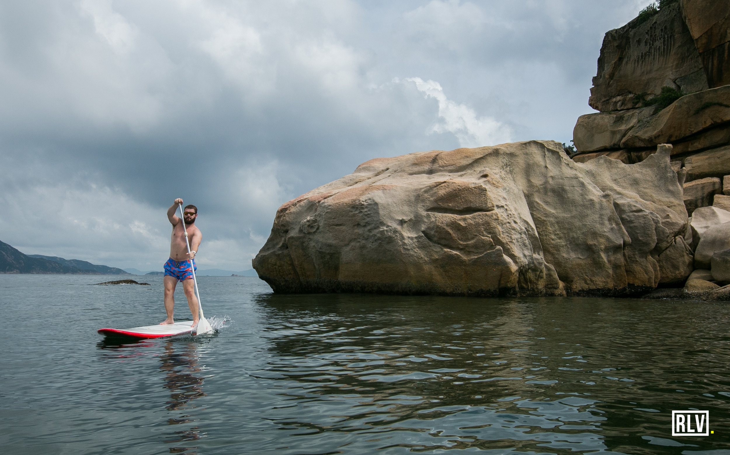Paddle boarding with Ciaran Danielis. First time and already looking like a pro