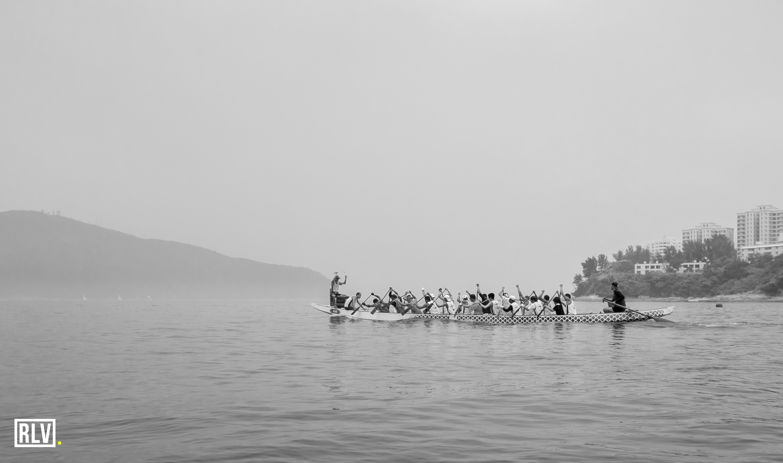 Local HK dragon boat team training