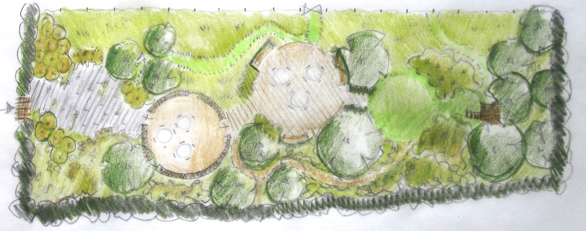 """Sketch - The Yurt and Children's Garden, Airfield, Dundrum.                     0   false       18 pt   18 pt   0   0     false   false   false                                        /* Style Definitions */ table.MsoNormalTable {mso-style-name:""""Table Normal""""; mso-tstyle-rowband-size:0; mso-tstyle-colband-size:0; mso-style-noshow:yes; mso-style-parent:""""""""; mso-padding-alt:0cm 5.4pt 0cm 5.4pt; mso-para-margin:0cm; mso-para-margin-bottom:.0001pt; mso-pagination:widow-orphan; font-size:12.0pt; font-family:""""Times New Roman""""; mso-ascii-font-family:Cambria; mso-ascii-theme-font:minor-latin; mso-fareast-font-family:""""Times New Roman""""; mso-fareast-theme-font:minor-fareast; mso-hansi-font-family:Cambria; mso-hansi-theme-font:minor-latin;}         Sketch Design Plans are drawn to scale, showing hard and soft landscaping areas and indicate the type of planting appropriate to the design theme. (Hard landscaping details and planting plans showing individual plants are not included)"""