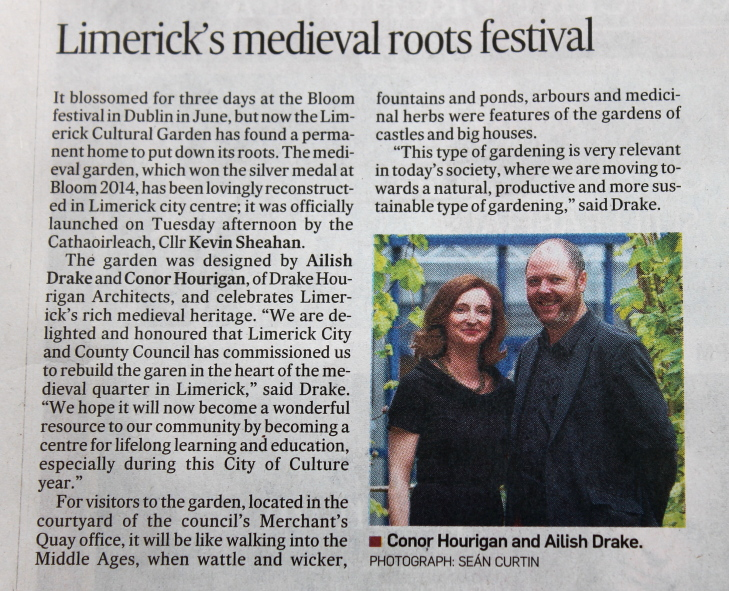 Irish Times Weekend, 30th August, 2014