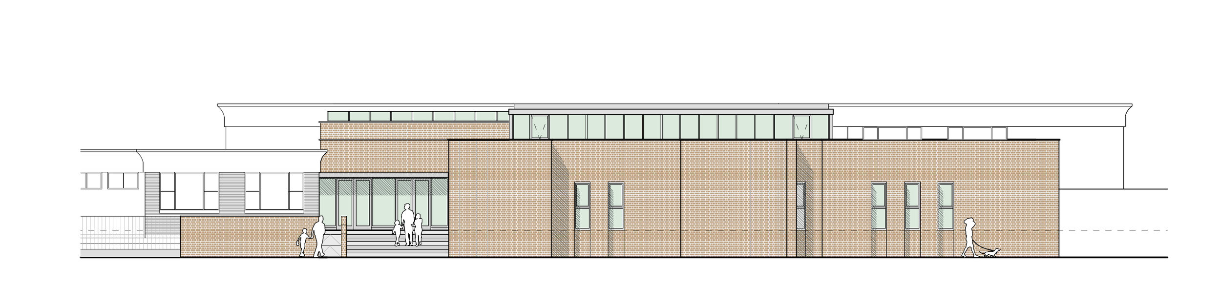 Streetfront elevation