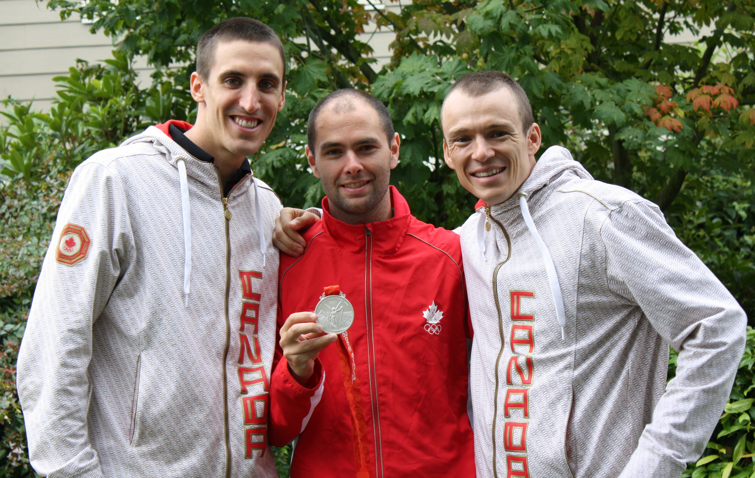 Colin Jenkins, Joel Filliol, and Simon Whitfield