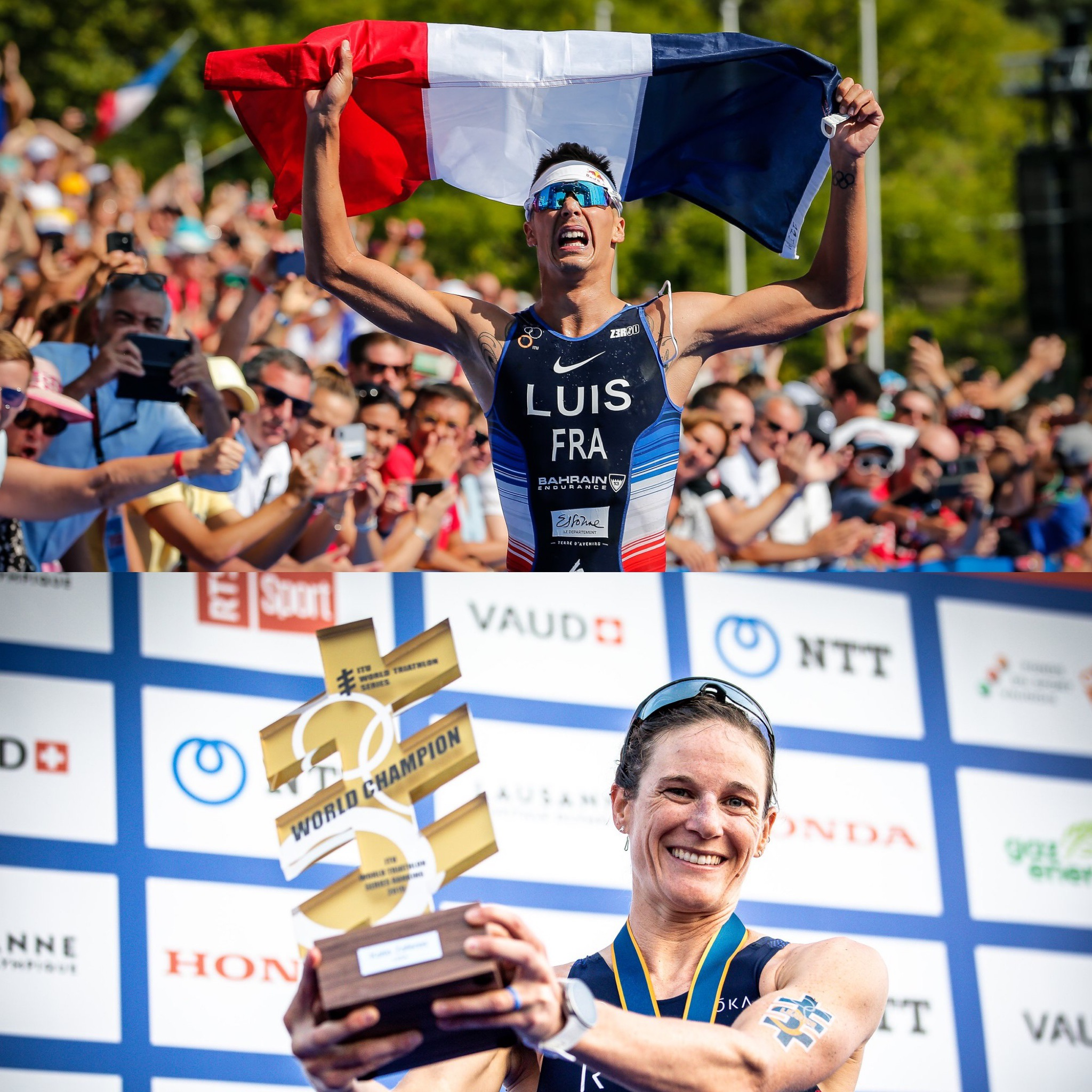 Vincent Luis and Katie Zaferes, 2019 ITU World Champions