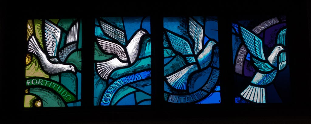 Stained Glass Image Of The Day Gifts Of The Holy Spirit Window East Cults Morning Glass Designs