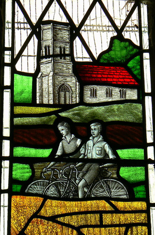 Stained Glass Image of the Day: Ramblers Window (Detail) - Walesby Church, Lincolnshire. Photo:  Romeo66