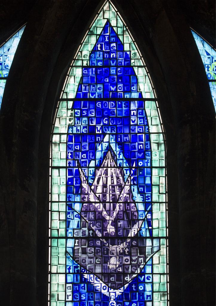 Millennium Window - Glasgow Cathedral (John Clark, 1999). Photo:  Fr Lawrence Lew, O.P