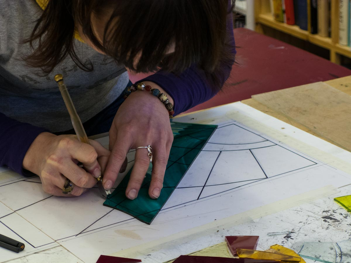 Classes and workshops - If you'd like to learn how to design, make or restore stained glass, click on the link below for upcoming classes. You can also sign up to our mailing list (at the bottom of the page) for news on future workshops.