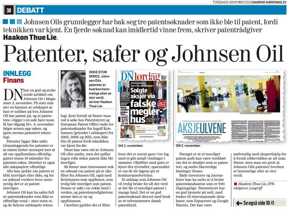 Dagen Næringsliv 2013-11-05