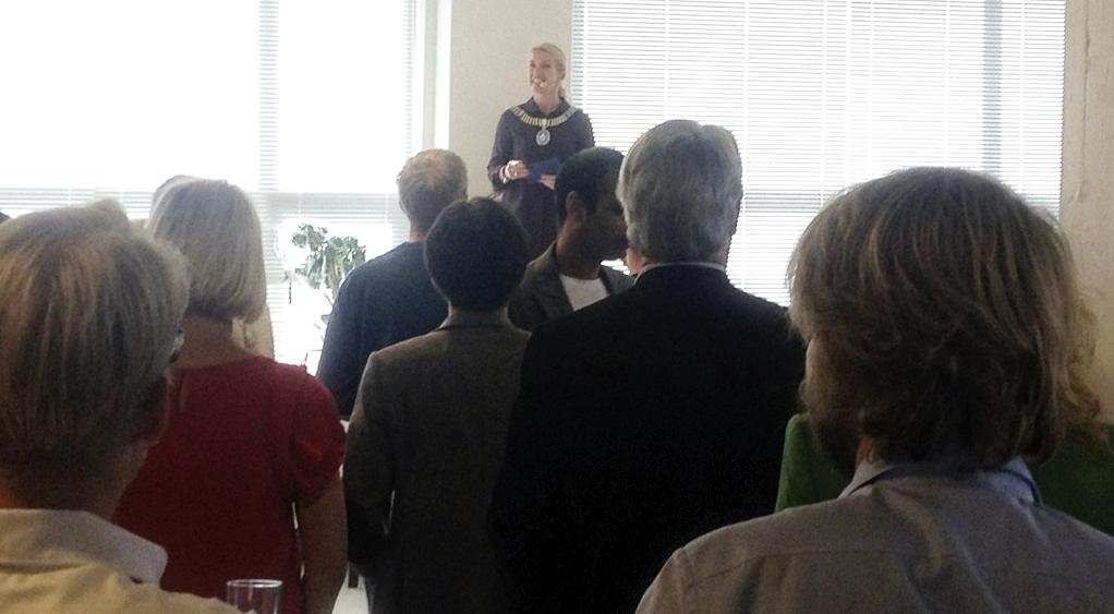 The mayor of Stavanger,Christine Sagen Helgø at Mess and Order.
