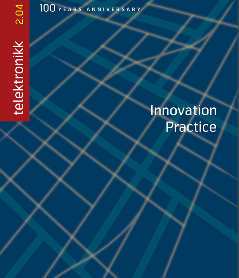 "2004: In the 100 years anniversary edition of Telenor's research journal ""Telektronikk"", edited by Bjørn Are Davidsen, we were co-authors on two articles: ""Innovation, uniqueness and IPR strategy; Haakon Thue Lie, Axel Moulin and Tom Ekeberg"", and ""Standardization, innovation and IPR; Eric James Iversen, Esten Øversjøen and Haakon Thue Lie"""