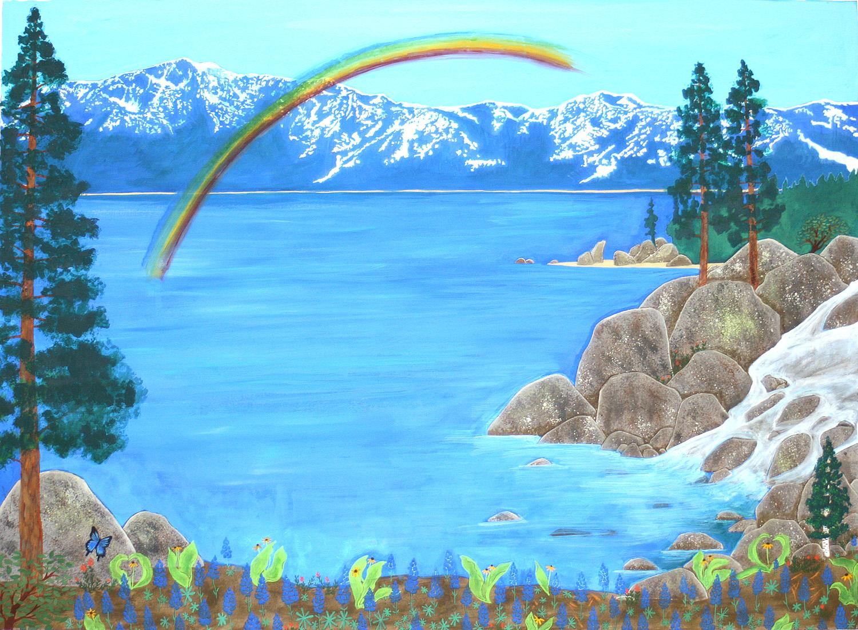 Down By The Water Custom Ketubah detail 1