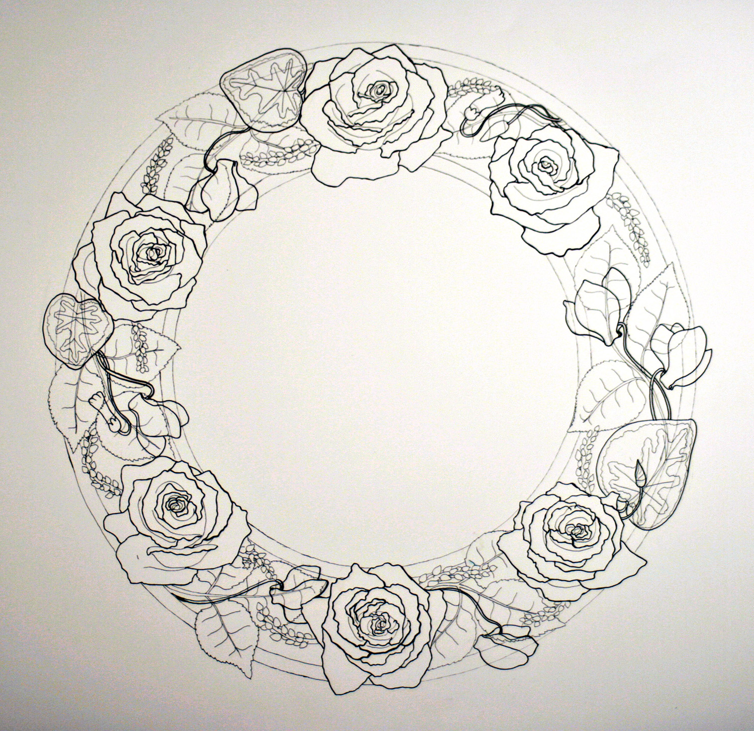Roses and Cyclamen Custom Ketubah detail 2