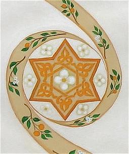 Ironwork and Pansies Custom Ketubah detail 1
