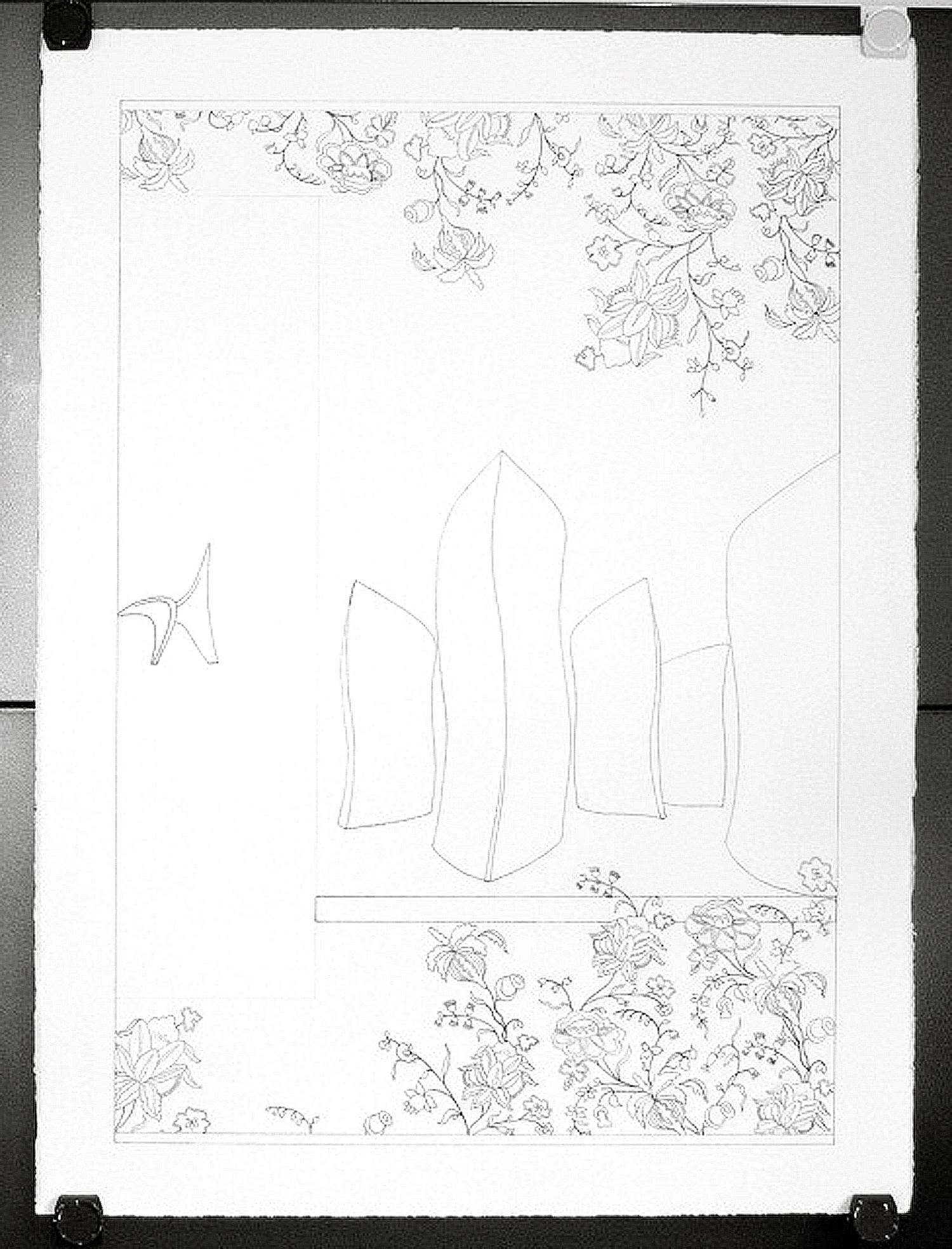 Bloom Custom Ketubah Ink Drawing