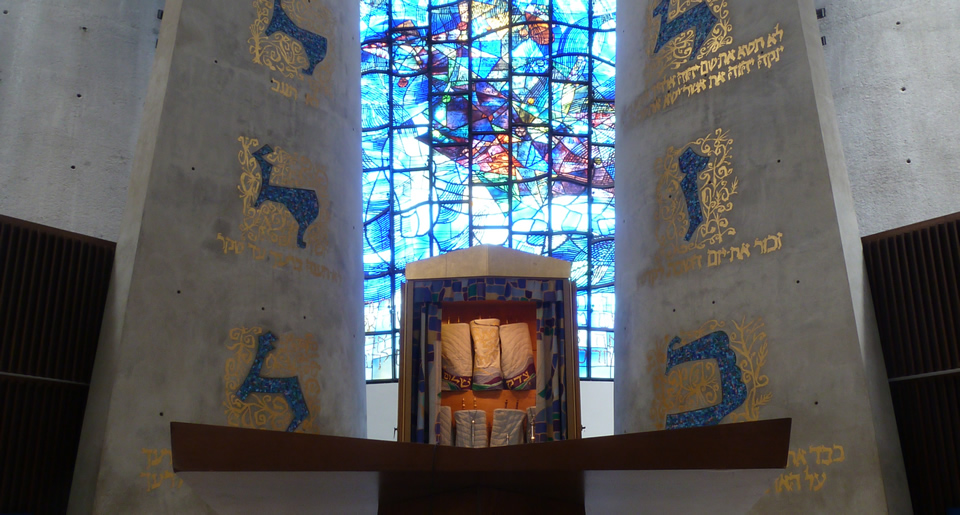 The beautiful sanctuary of Temple Beth Zion