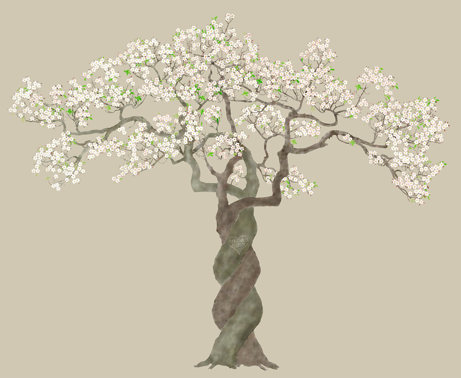 Version 1 Trees Painted