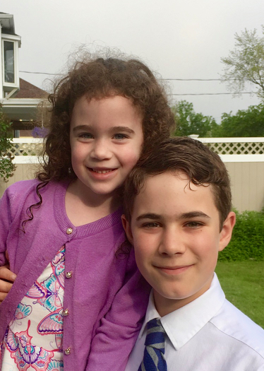 Sadie, age 5, and Jude, age 12, in 2019
