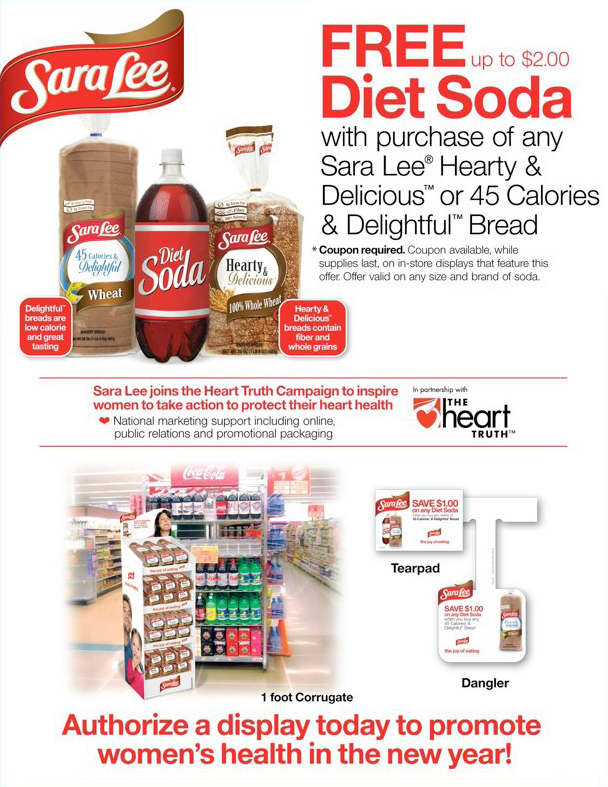 Sara Lee: Free Diet Soda Offer – Sell Sheet