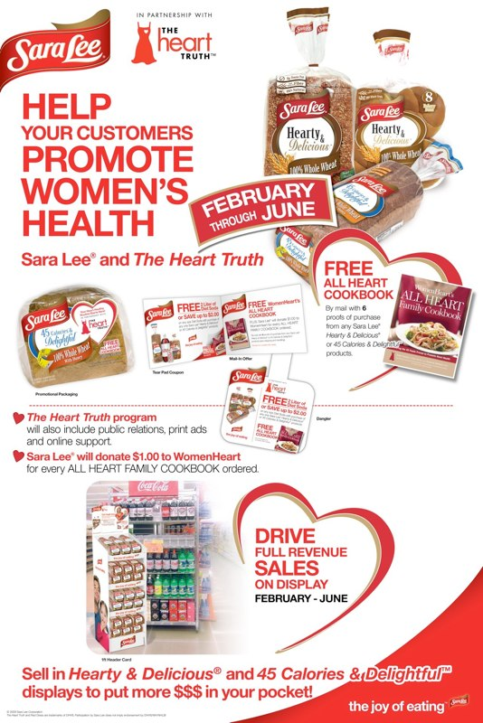 Sara Lee: The Heart Truth Promotion – Depot Poster