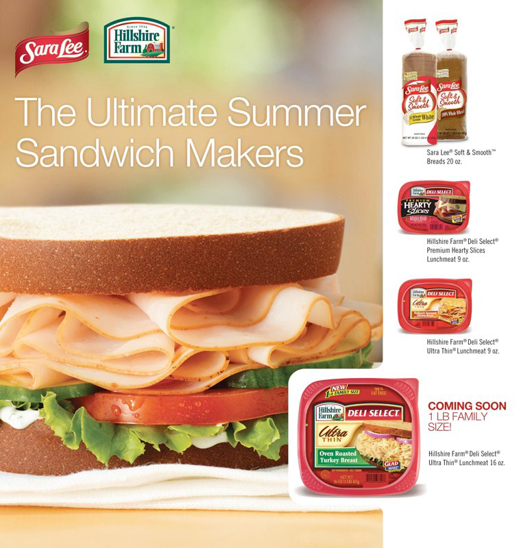 Sara Lee / Hillshire Farm: Ultimate Sandwich – Print Ad