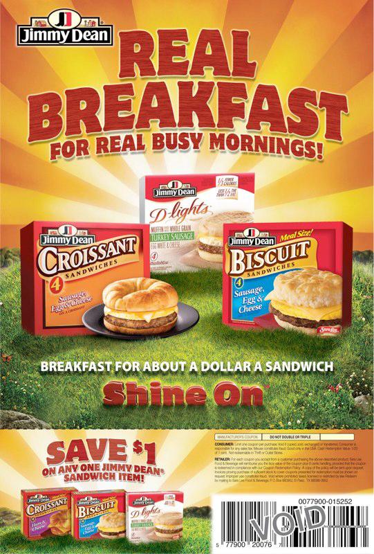 Jimmy Dean: Breakfasts – FSI V1