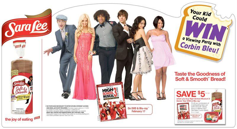 Sara Lee: HSM3 DVD Promotion – Header Card