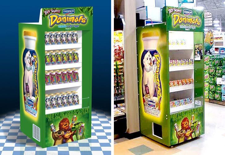 Dannon Danimals: Refrigerated Display