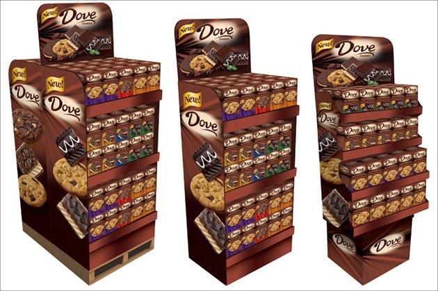 Dove Cookies: Shipper Displays