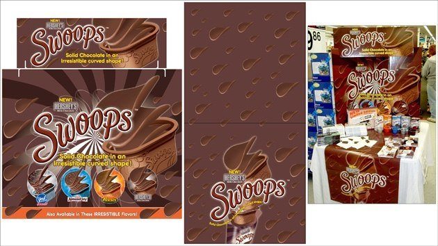 Hershey's Swoops: Tri-Fold & Table Runner