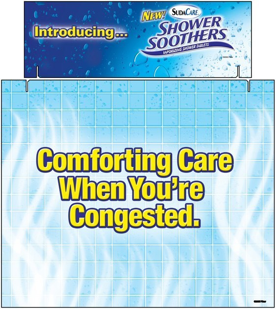 Pfizer Shower Soothers: Tri-Fold Display