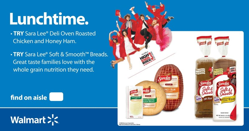 Sara Lee: Walmart Tri-Fold Display