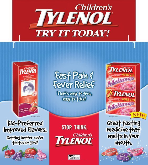 Tylenol: Tri-Fold Display