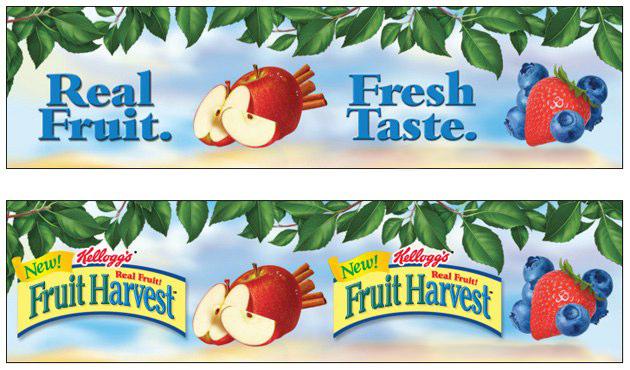 Kellogg's Fruit Harvest: Lenticular Shelf Strip