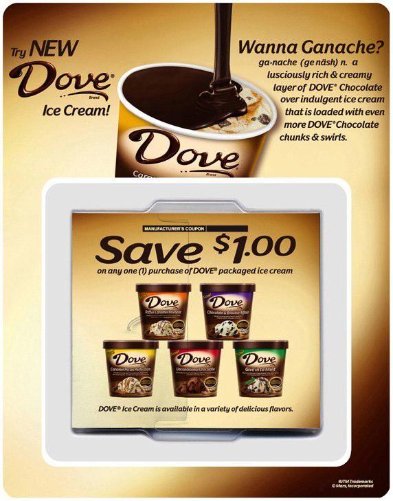 Dove Ice Cream: Offer Dispenser