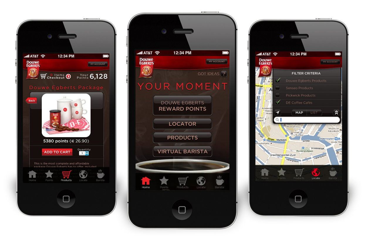 Douwe Egberts – Your Moment – Mobile App