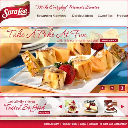 Sara Lee Desserts: Website & Social